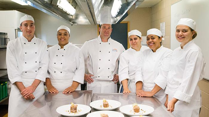 Team of chefs at UCOL Palmerston North