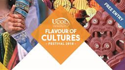 A promotional poster for UCOL's Flavour of Cultures Festival.