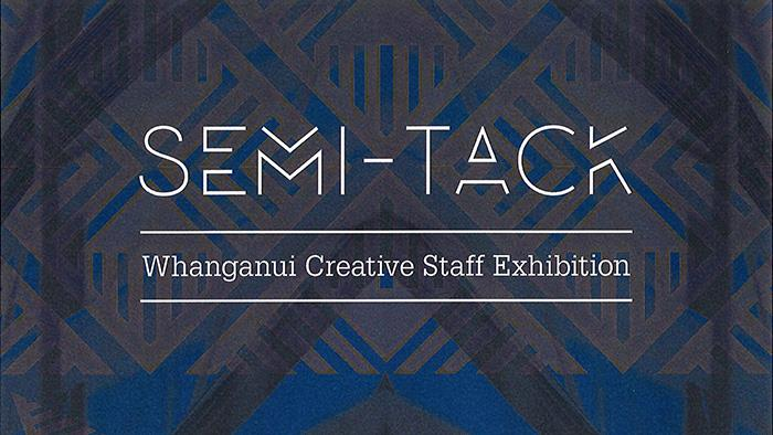 Semi-Tack exhibition poster