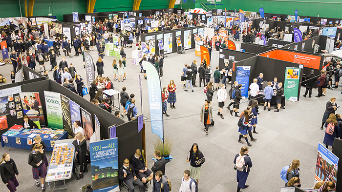 An aerial photograph of Sort it Careers Expo