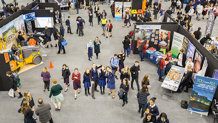 An aerial view of Sort it Careers Expo