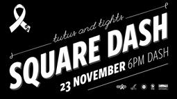 A graphic promoting the Square Dash event in Palmerston North on 23 Nov 2017.