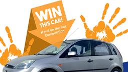 A promotional poster for the opportunity to win a car with UCOL and Wanganui Motors on 3 Aug 2018.
