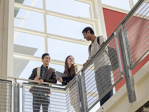 A photograph of students in The Atrium at UCOL in Palmerston North