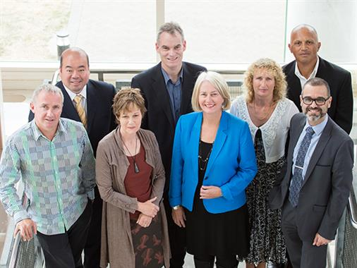 UCOL's Senior Leadership Team in the Palmerston North UCOL atrium