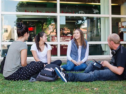 UCOL students outdoors on Palmerston North campus