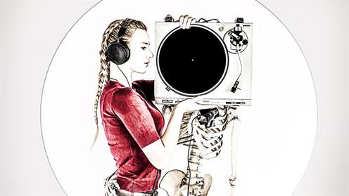 A creative portrait of a girl holding a radio by UCOL photography lecturer Ian Rotherham
