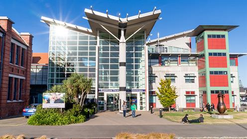 A photograph of some of the UCOL buildings in Palmerston North