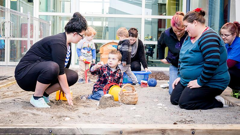 Early Childhood Education students supervising children at our Palmerston North campus