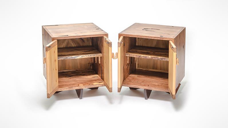 A photograph of two side tables made by UCOL students