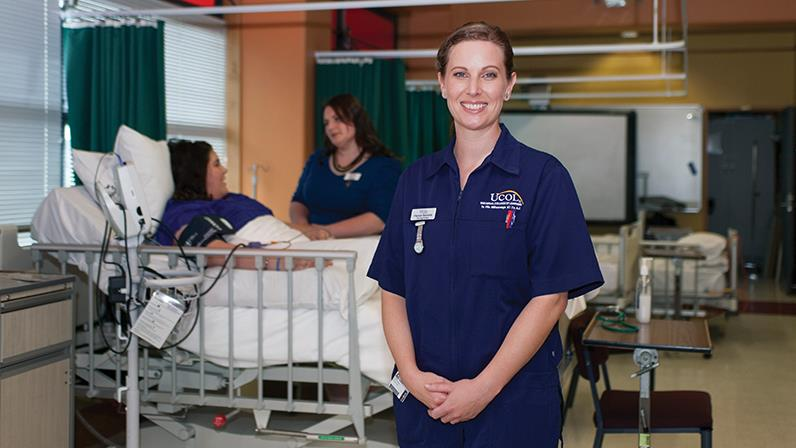 Nursing student studies at the Palmerston North campus