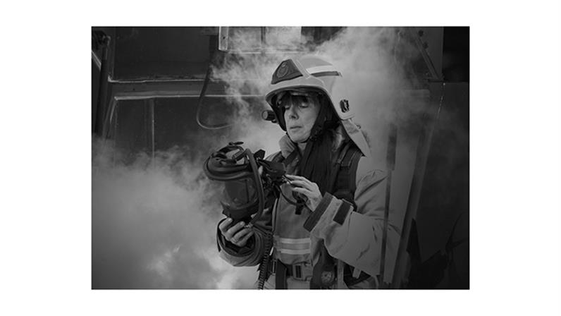 Fire fighter - first year creative student Emily Smith