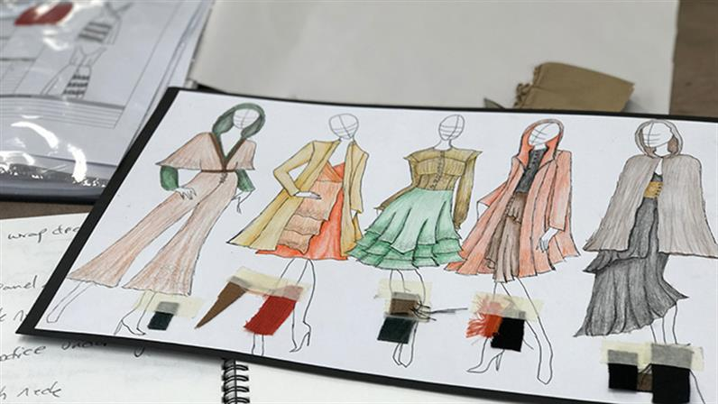 A sketch of a fashion collection