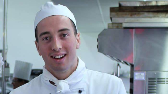 U-Skills and Cookery Graduate in UCOL's on-site commercial kitchen