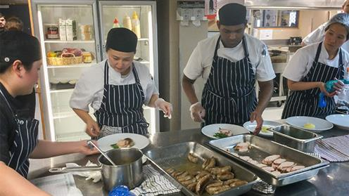 UCOL Cookery students at the kitchen