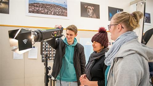 A photograph of UCOL photography students