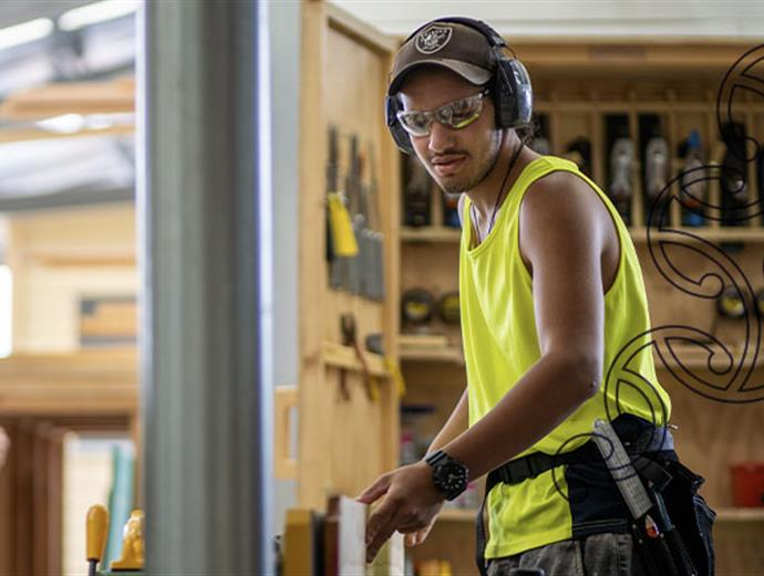 A student in the workshop