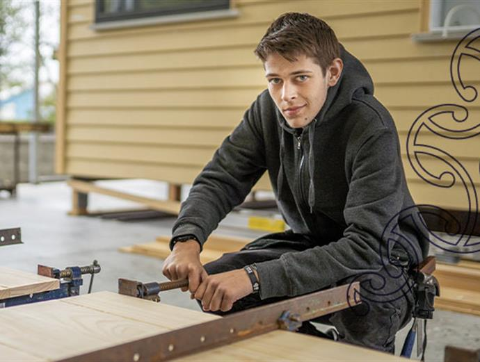 student at the workshop